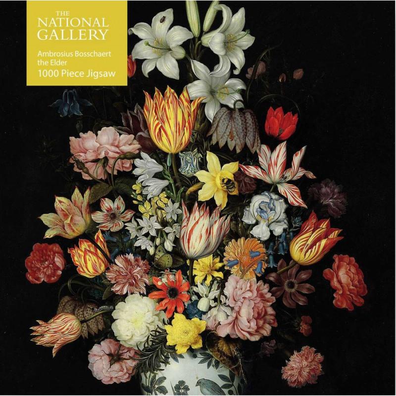 National Gallery Bosschaert the Elder: A Still Life of Flowers 1000 Piece Puzzle