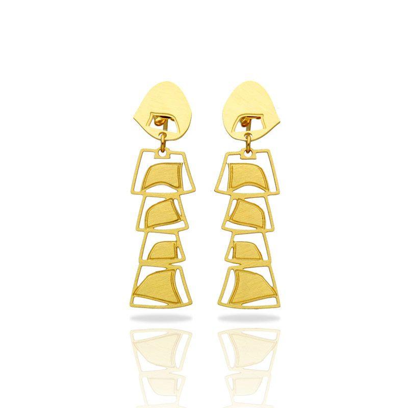 Africa Gold Mobile Earrings