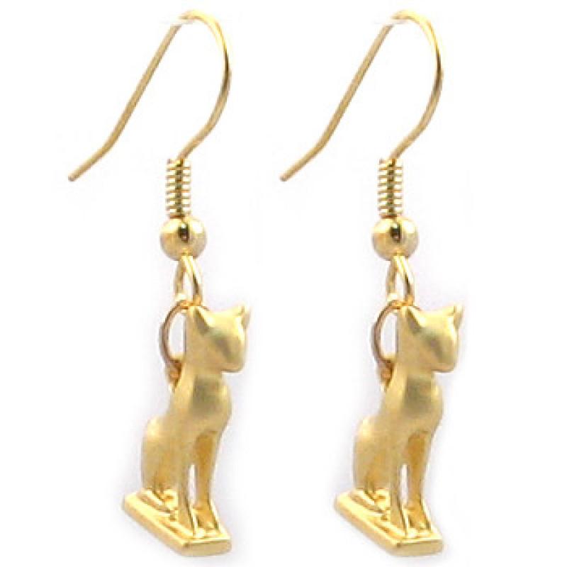Bastet Cat Earrings