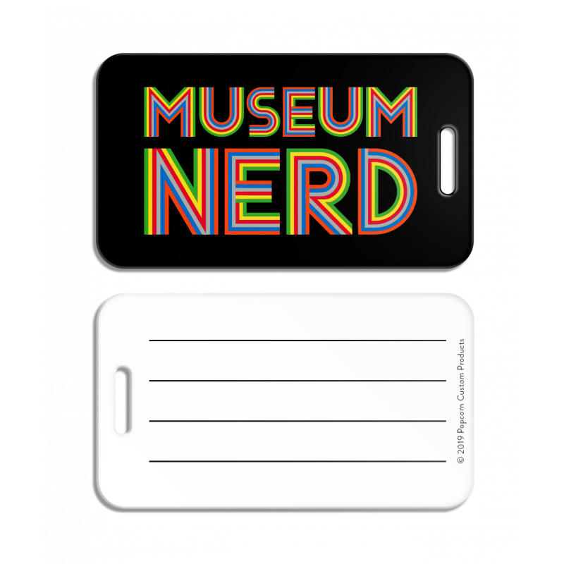 Museum Nerd Luggage Tag - Black