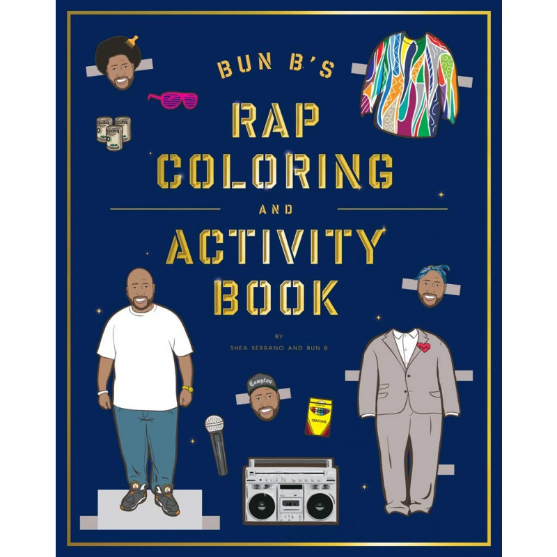 Bun B's Rap Coloring and Activity Book for Adults
