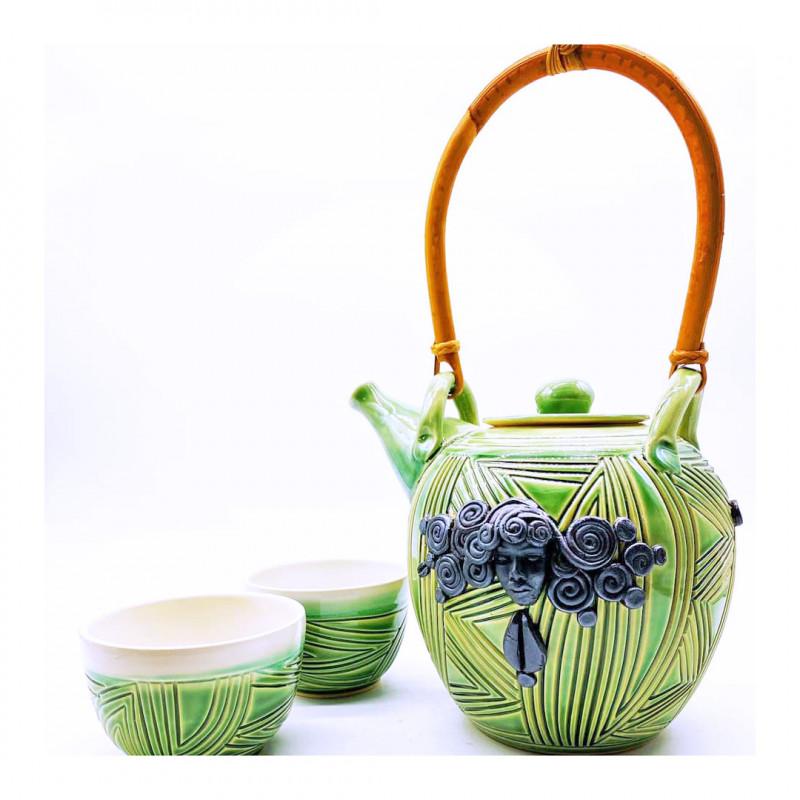 Carren Clarke Siti Ceramic Teapot + Cups