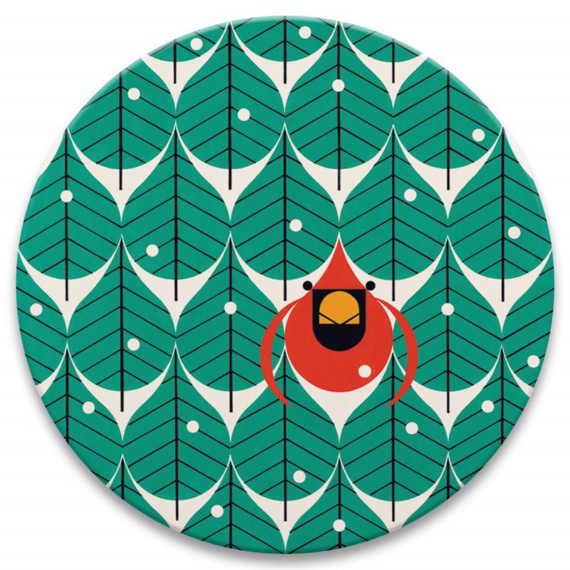 Charley Harper Coniferous Cardinal Stone Trivet