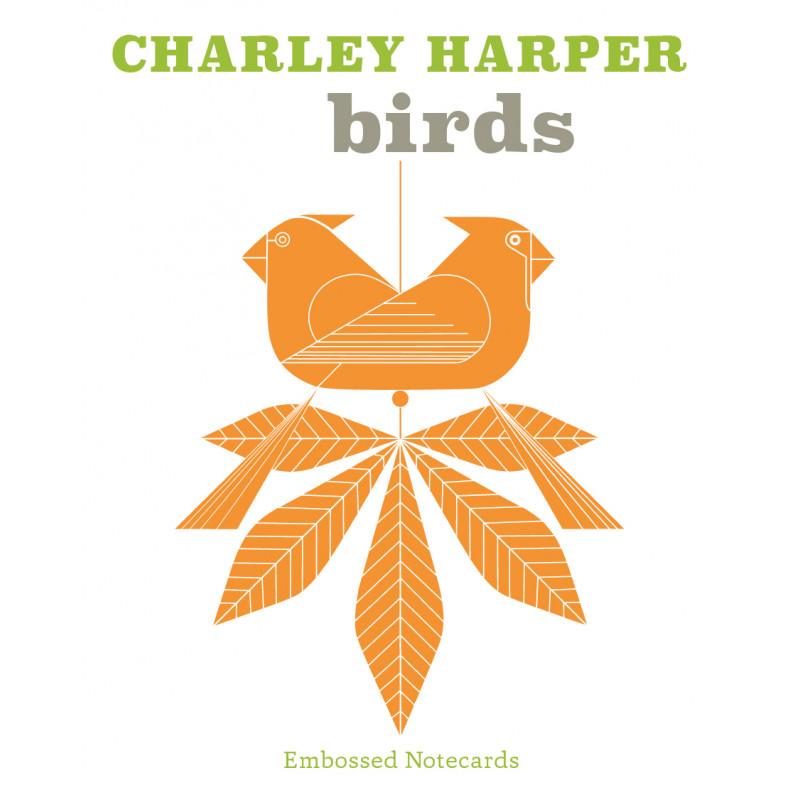 Charley Harper Birds Embossed Notecards