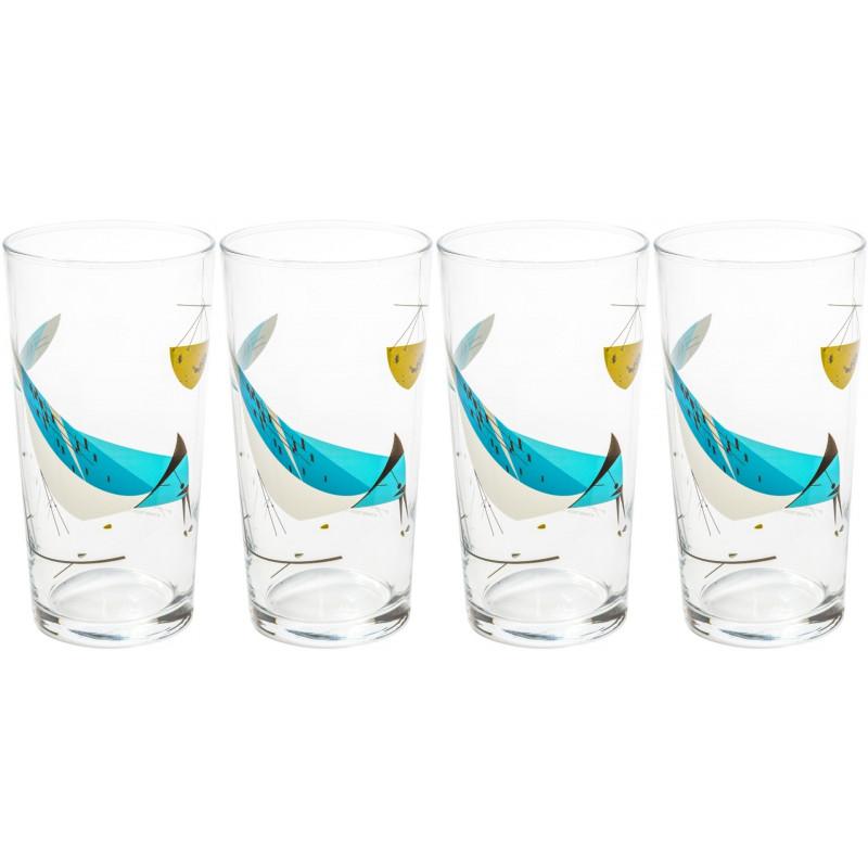 Blue Jay Glasses - Set of 4