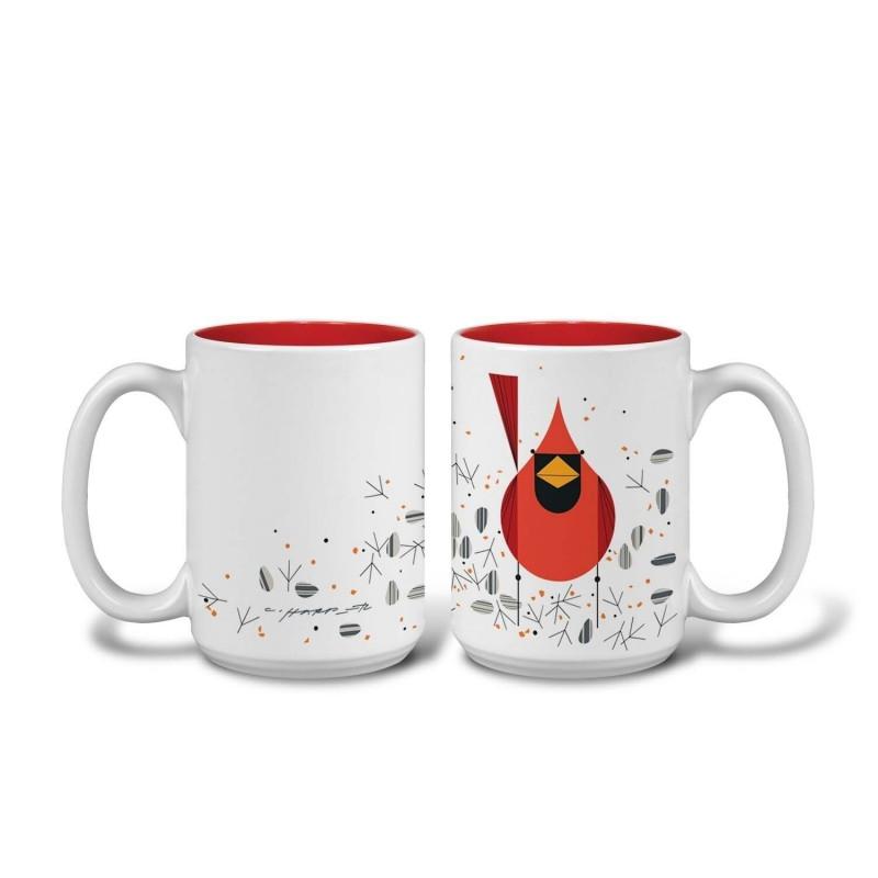 Cardinal and Seeds Grande Mug
