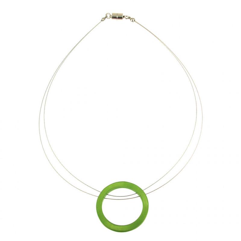 Circle Magnetic Clasp Pendant Necklace - Daiquiri