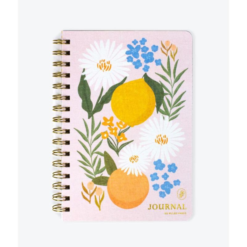 Citrus Florals Spiral Bound Notebook