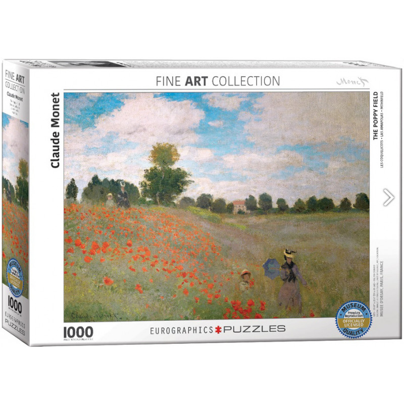 Claude Monet The Poppy Field 1,000 Piece Puzzle