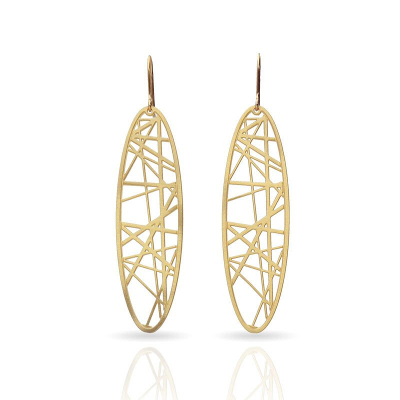 Crossroad Gold Earrings