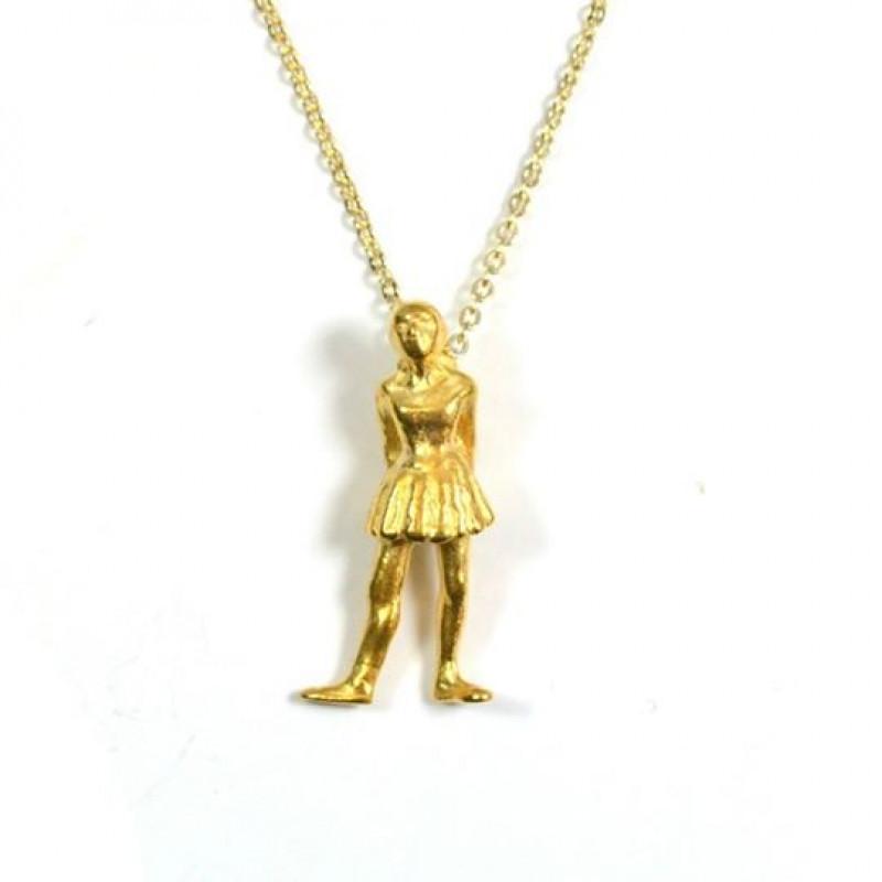 Degas Little Dancer Pendant Necklace