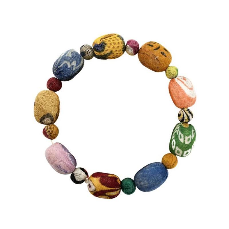 Dotted Oval Kantha Bracelet