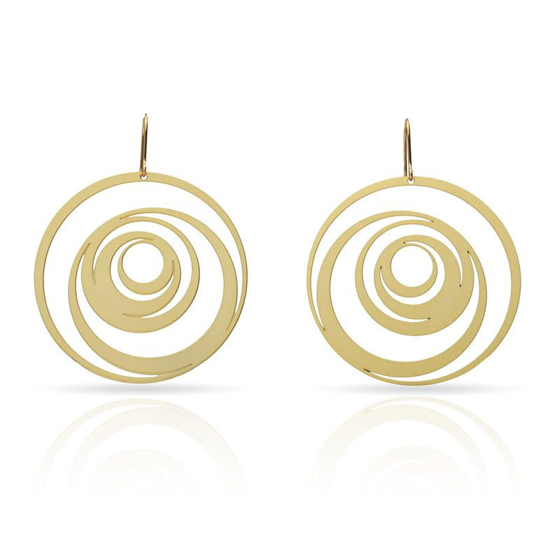 Eccentric Gold Earrings