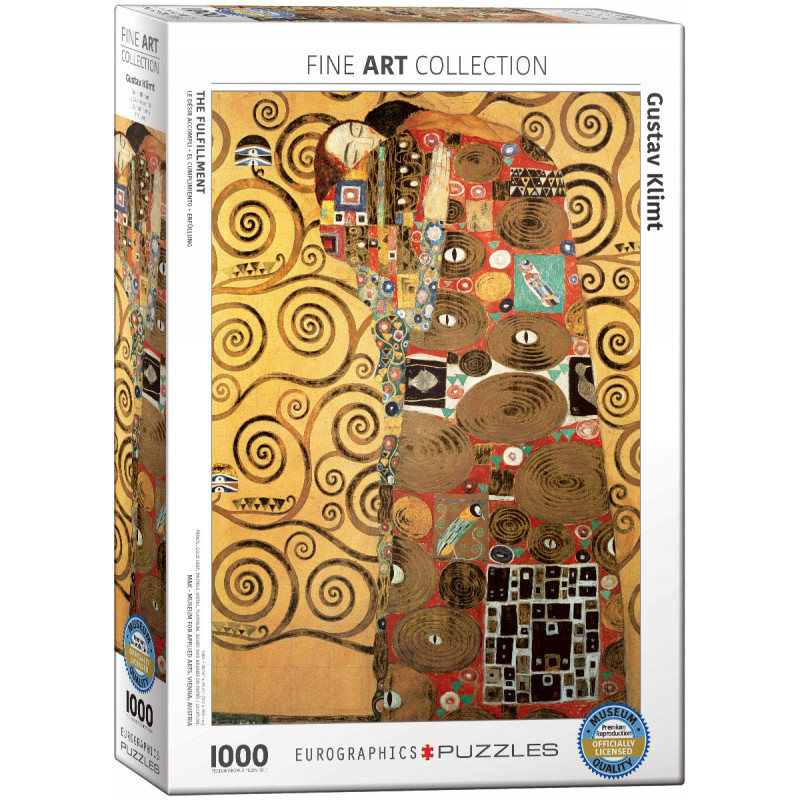 *Gustav Klimt The Fulfillment 1,000 Piece Puzzle
