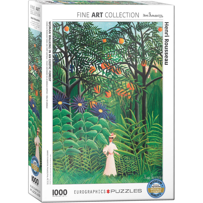 Henri Rousseau Woman in an Exotic Forest 1,000 Piece Puzzle