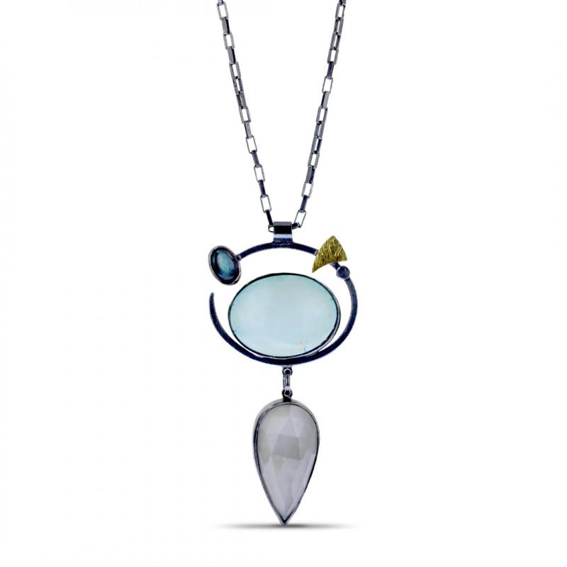 Lynn Harrisberger Blue Moon Turquoise Fiesta Necklace