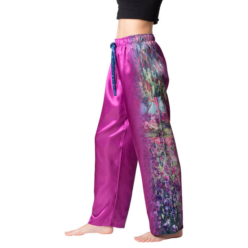 Monet's Garden Satin Pajama Pants
