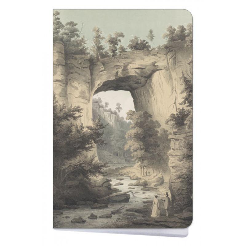Natural Bridge by Edward Beyer Mini Notebook