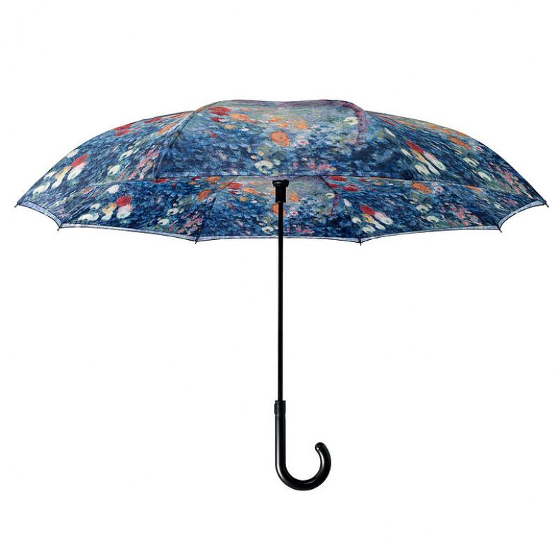 Renoir Le Jardin rue Cortot a Montmarte Stick Umbrella - Reverse Close