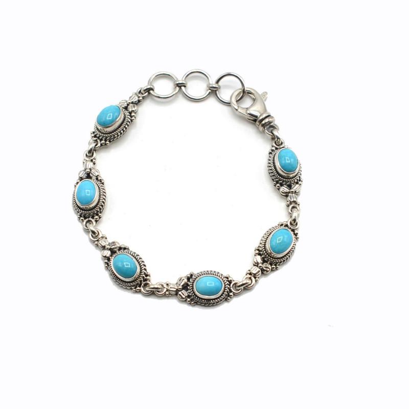 Multi-Stone Bracelet - Six Turquoise