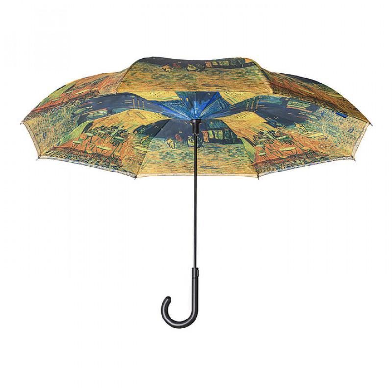 Van Gogh Café Terrace Stick Umbrella - Reverse Close