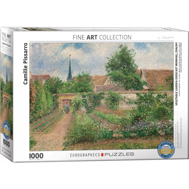 Camille Pissarro: Vegetable Garden Overcast Morning Eragny 1,000 Piece Puzzle