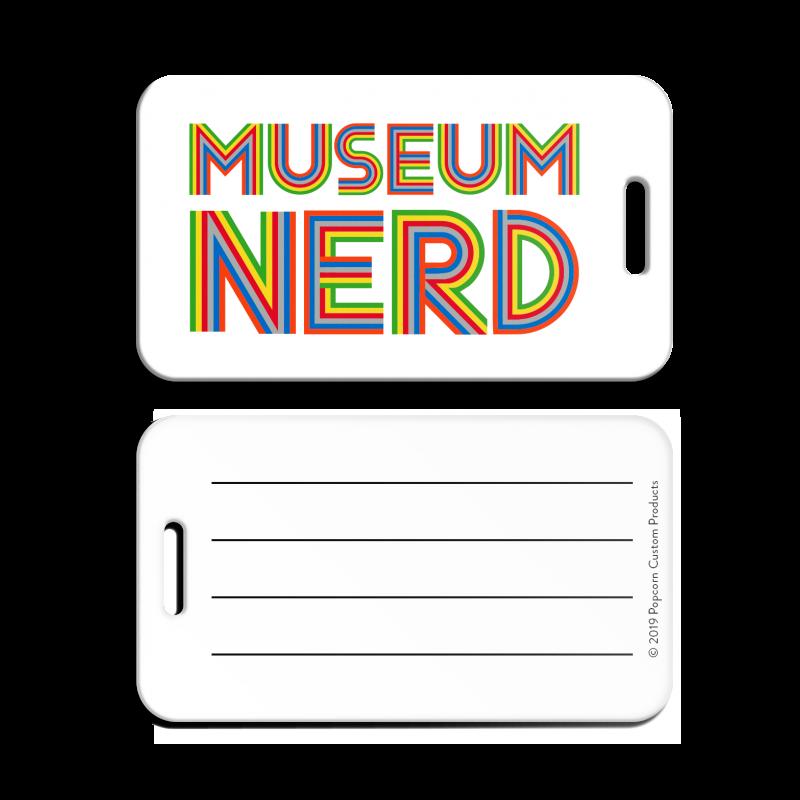 Museum Nerd Luggage Tag - White