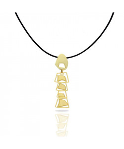 Africa Mobile Gold Pendant Necklace