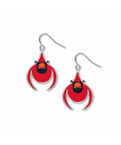 Charley Harper Cardinal Earrings