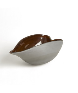Frosted Grey Bowl with Amber Casing