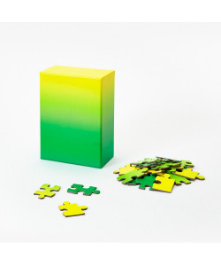 Gradient Puzzle Small - Green/Yellow