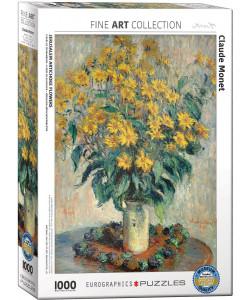 Claude Monet Jerusalem Artichoke Flowers 1,000 Piece Puzzle