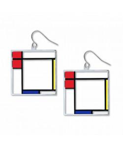 Mondrian Composition Earrings