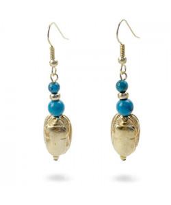 Scarab & Turquoise Earrings