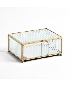 Clear Reeded Glass Box
