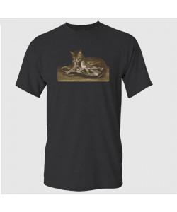 Steinlen Cat Lying on the Floor T-Shirt