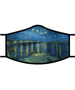Van Gogh Starry Night Over the Rhone Face Mask