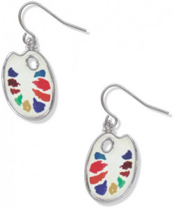 Watercolor Palette Earrings