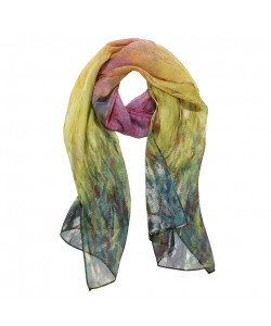Monet Water Lilies at Sunset Scarf
