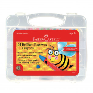 Brilliant Beeswax Crayons in Storage Case - 24