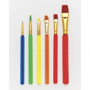 Assorted Triangular Paint Brushes - 6