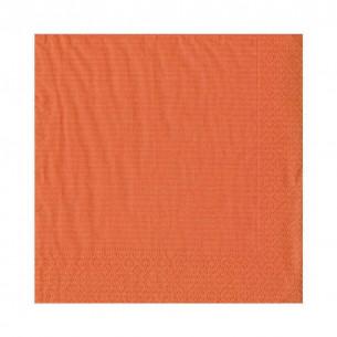 Grosgrain Paper Luncheon Napkins in Deep Orange
