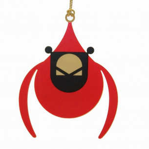 Charley Harper Brass Flying Cardinal Ornament