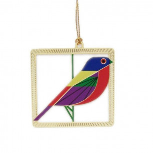 Charley Harper Painted Bunting Ornament