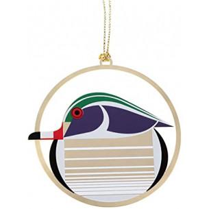 Charley Harper Wood Duck Ornament