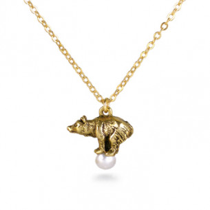 Fabergé Bear Pearl Necklace