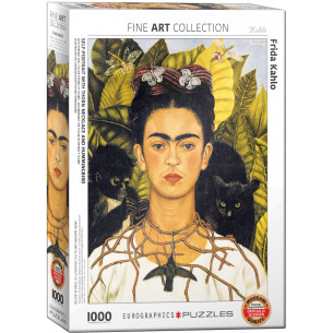 *Frida Kahlo Self-Portrait with Thorn Necklace and Hummingbird Puzzle