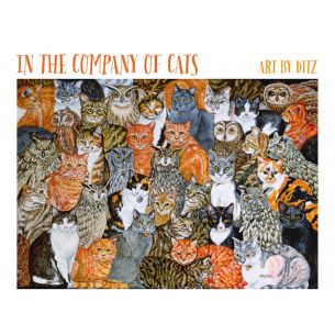 In the Company of Cats: Art by Ditz Boxed Notecards