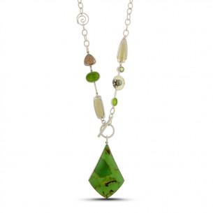 Lynn Harrisberger Cactus Green Totem Necklace