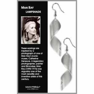 Man Ray Lampshade Spiral Earrings - Silver
